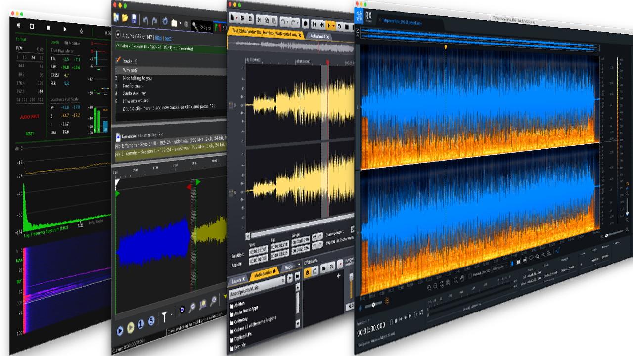 Software Tools und DAWs für Audio Bearbeitung, Izotope, Acon Digital, Ableton