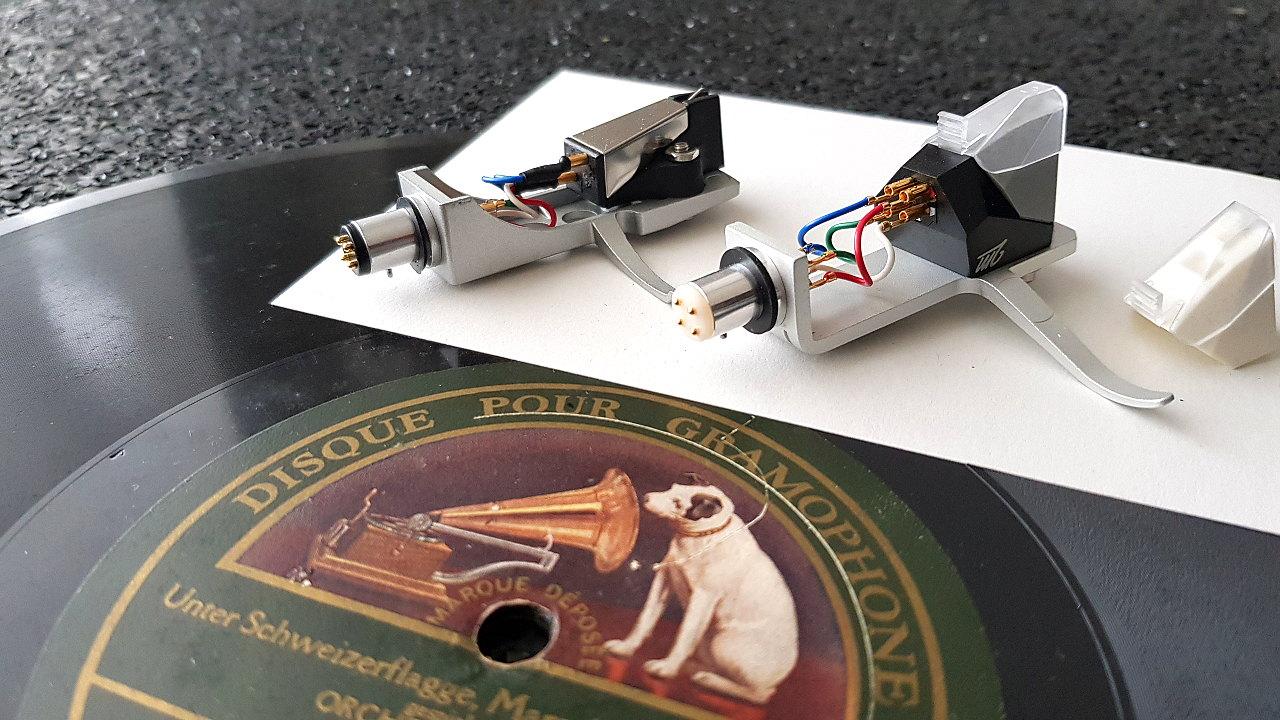 Ortofon 2m 78 mono Tonabnehmer mit Schellack Schallplatte His Master's Voice